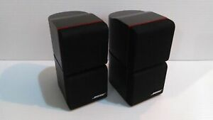 NICE PAIR OF 2 BOSE CLASSIC REDLINE Double Cube Speakers Lifestyle Acoustimass