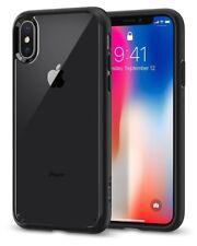 Spigen Ultra Hybrid Schutzhülle Case für Apple iPhone X Schwarz matt