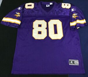 Vintage Minnesota Vikings Cris Carter #80 Football-NFL Starter Jersey Size54