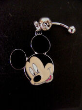 Mickey Mouse Head ears Belly Ring Navel Ring 14G Surgical Steel
