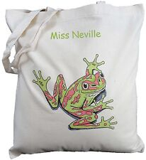 PERSONALISED TREE FROG COTTON SHOULDER BAG - Shopping