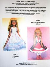 "Ng Creations Sewing Pattern #5 Gown Shoes fits 18"" Disney Princess & Me Doll"