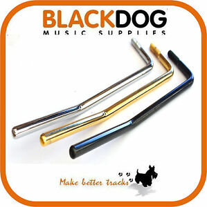 Left hand 6mm tremolo arm in chorme black gold handed