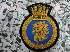 HMS Fearless Blazer Badge (Bullion) (SN)