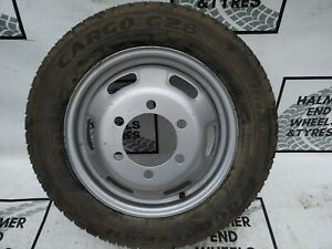 """16"""" IVECO DAILY 6 STUD STEEL TWIN WHEEL 195 65 16C GOODYEAR TYRE 10mm"""