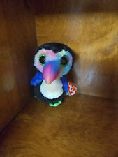 Authentic New with tags  Ty Beanie Boo Beaks the Toucan 6 inches US SELLER!
