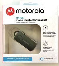 New Motorola Hk105 Mono Bluetooth headset Wireless Media Streaming Alexa, Siri,
