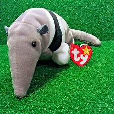 NEW Ty Beanie Baby Ants The Anteater Retired PE Plush Toy MWMT - FREE Shipping