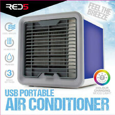 USB Portable Air Conditioner Humidifier Purifier Summer Colour Changing Light