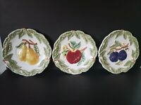 DINNER PLATE 11-14 Charter Club Casuals Summer Grove Pattern Apples Pears Plums Federated Department Stores Discontinued Vintage Indonesia