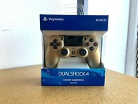 NEW Official Sony DualShock 4 Wireless Controller for PlayStation 4 (PS4) - Gold