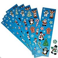 Pack of 8 - Christmas Sticker Sheets - Christmas Party Bag Fillers
