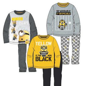 Minions Jungen Schlafanzug,Nachtwäsche,Pyjama 104 bis 140