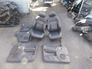 JEEP CHEROKEE BLACK LEATHER SEATS & DOOR TRIMS, KJ, 09/01-11/07