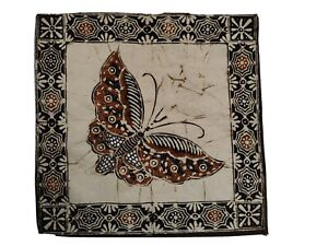 Batik art butterfly print from Java Indonesia cotton multi-use cloth new
