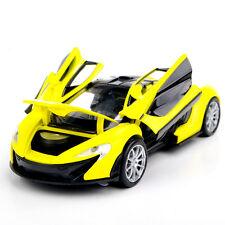 Yellow McLaren P1 Sports Car Vehicle 1/32 Alloy Diecast Car Model w/light&sound