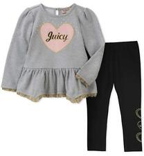 Juicy Couture Girls Gray Tunic 2pc Legging Size 2T 3T 4T 4 5 6 6X 7 8/10 12