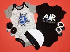 Air Jordan Newborn Baby Boy 5-Pc Gift Set Bodysuits, Cap & Booties 0-6 Months.