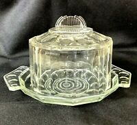 Francese Art Déco Vetro Cloche Cibo Bell Cupola Cover Small Torta Display Stand
