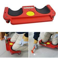 Rolling Knee Protection Pad with Wheel Built in Foam Padded Laying Platform Tool