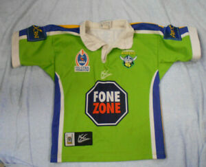 #VV1. SMALL CANBERRA RAIDERS  RUGBY LEAGUE SUPPORTER'S JERSEY