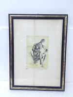 Litografia incorniciata numerata Pippo Ragonesi vintage litography