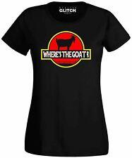 Wheres the Goat Women's T-Shirt - Funny t shirt dinosaur movie retro fashion