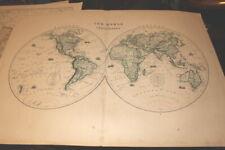 #4127,Large Map of Hemisperes(Globe)1875, From Hardesty Atlas