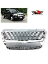 2007-2010 FORD EXPLORER/SPORT TRAC TRUCK ABS CHROME MESH FRONT HOOD GRILLE GRILL