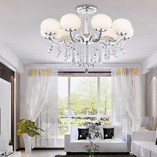 40W 110V Crystal Drop Modern Chandelier Pendant Ceiling Lamp Fixture 9 Lights US