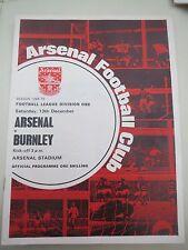 Arsenal V Burnley  1969/0