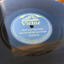 78 rpm HEEL & TOE / SEASIDE POLKA Henry Ford Old Time Dance 1926 VICTOR record