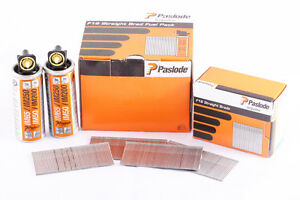 Paslode 38mm Stainless Steel Straight Brad Nails (2000pcs + 2 Fuel) 921594