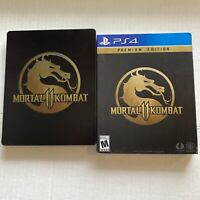 Mortal Kombat 11 Premium Edition Steelbook & Slipcover ONLY (Playstation 4 PS4)