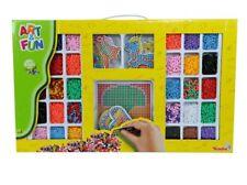Simba Bügelperlen set 6000 Perlen große Steckplatte 9 Motive Vorlage Basteln