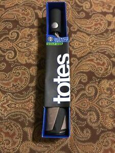 Totes Golf Size Black/ Gray Umbrella NWT
