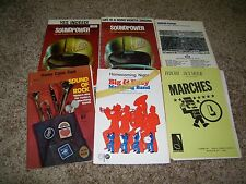 Lot of 6 pieces of MArching Band Music Soundpower Horse Fever Lot218