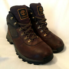Men's TIMBERLAND Brown Leather Waterproof Boots Sz 9 Anti Fatigue 2730R