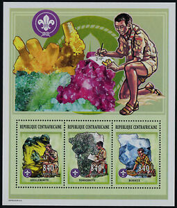 Central Africa 1450 MNH Minerals, Scouts