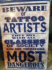 retro tattoo metal tin plate sign