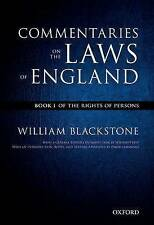 The Oxford Edition of Blackstone's: Commentaries on the Laws of England: Book I:
