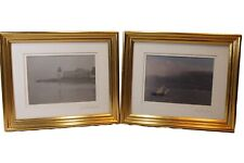 2 Beautiful Gold Framed Signed Photo's By Paul Montecalvo