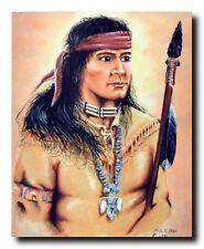 Native American Indian Warrior Wall Decor Art Print Poster (16x20)