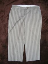 SUSSAN Brown Pinstripe 3/4 pants. Size 12. Stretch NEW
