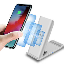 15W Qi Wireless Charger Foldable Dock Stand For iPhone 11 8 XS Samsung S20 S10 +