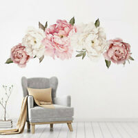 Blossom Peony Flower Wall Sticker Floral Bedroom Home/Room Art Mural Decal Decor