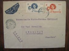 1947 Madagascar Port BERGE flight cover Air Mail colonie France