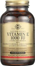 Solgar Vitamin E 1000 IU 100 Softgels d-Alpha Tocopherols & Mixed Tocopherols
