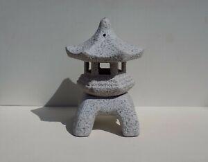 """8"""" Shouju Yukimi Chinese Ceramic Garden Lantern Buddha Pagoda Bonsai Decor 74"""