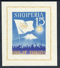 ALBANIA 1964 Tokyo Olympic Games  imperforate block MNH / **